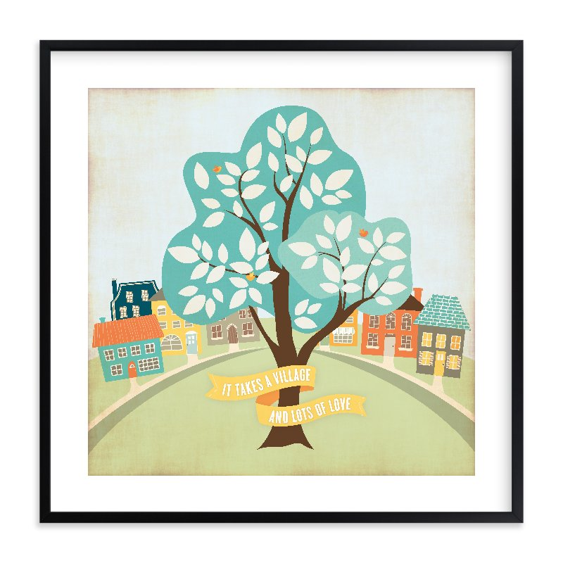 """""""More Than A Village"""" - Limited Edition Art Print by cadence paige design in beautiful frame options and a variety of sizes."""
