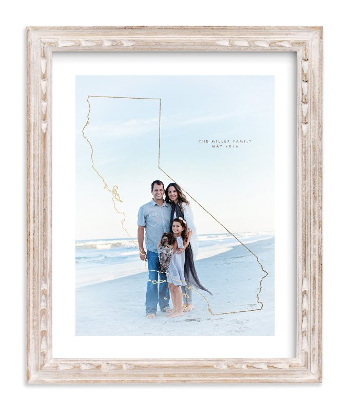 """""""All I Need - California"""" - Foil Pressed Photo Art Print by Owl and Toad in beautiful frame options and a variety of sizes."""
