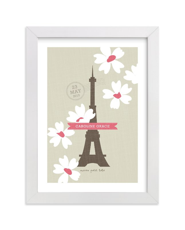 """""""Spring Time in Paris"""" - Children's Custom Art Print by Kristie Kern in beautiful frame options and a variety of sizes."""