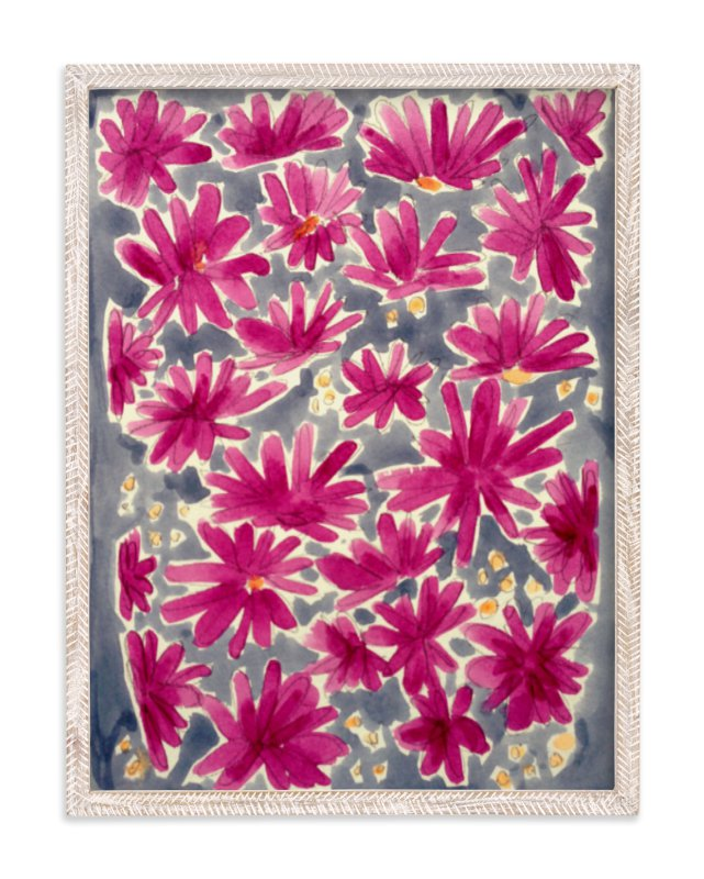 """Magenta Flora"" - Art Print by Katie Craig in beautiful frame options and a variety of sizes."