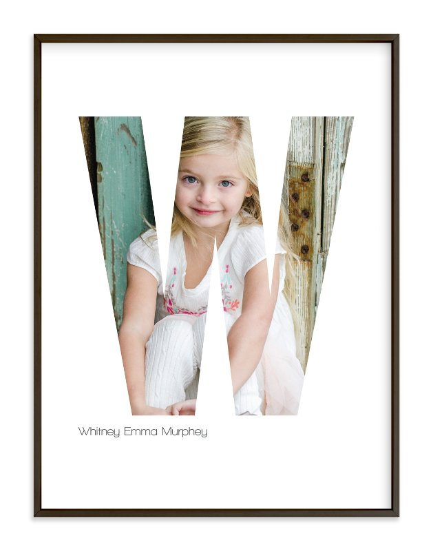 """W - Within Letters of You"" - Children's Custom Photo Art Print by Heather Francisco in beautiful frame options and a variety of sizes."