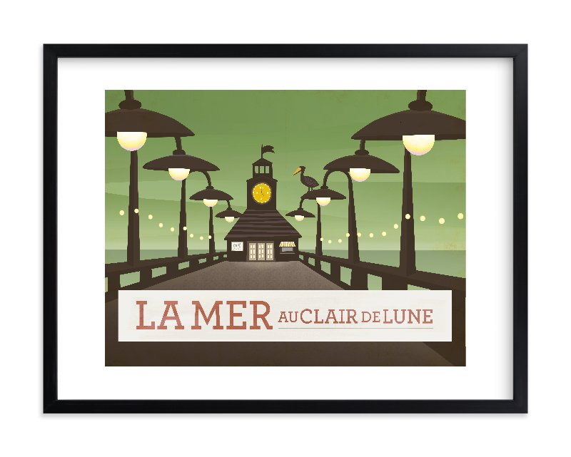 """La Mer"" - Limited Edition Art Print by Griffinbell Paper Co. in beautiful frame options and a variety of sizes."
