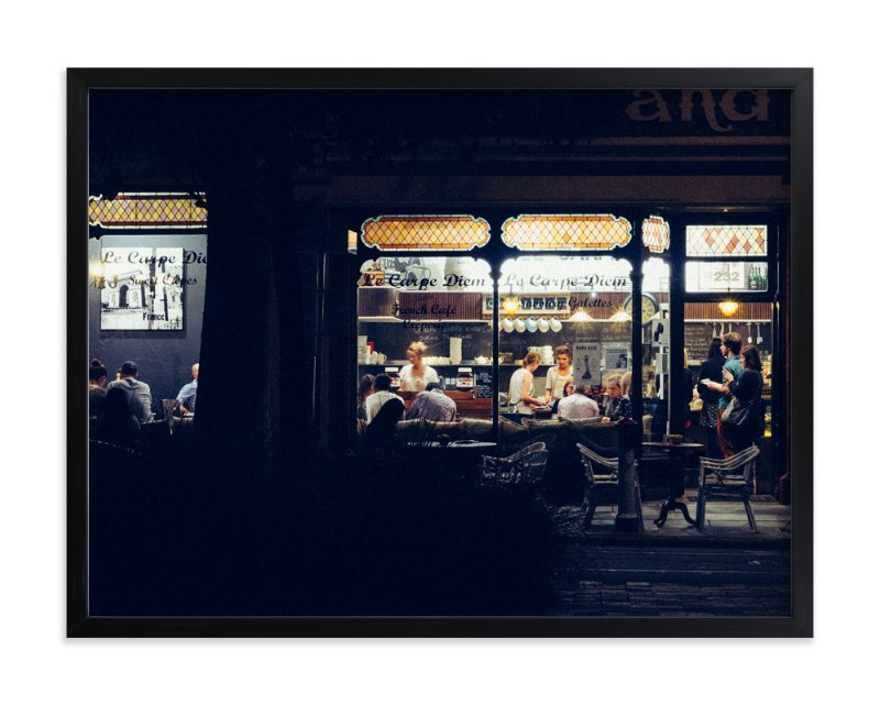 """""""Paris Nights"""" - Art Print by Monday Project in beautiful frame options and a variety of sizes."""