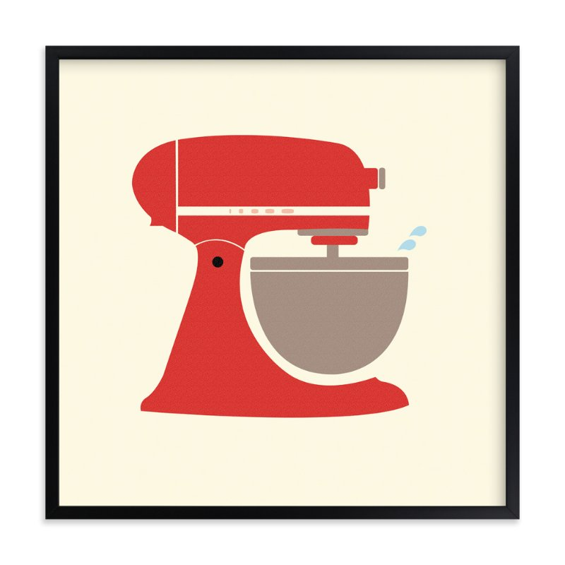 """Vintage Kitchen Mixer"" - Art Print by Katie Zimpel in beautiful frame options and a variety of sizes."