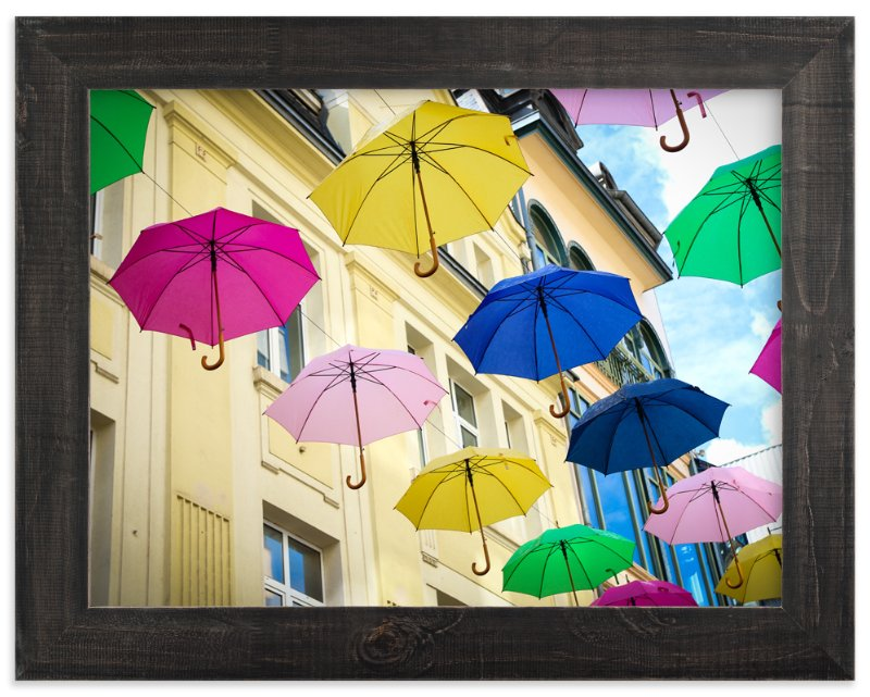 """""""Umbrellas"""" - Art Print by Heather Squance in beautiful frame options and a variety of sizes."""