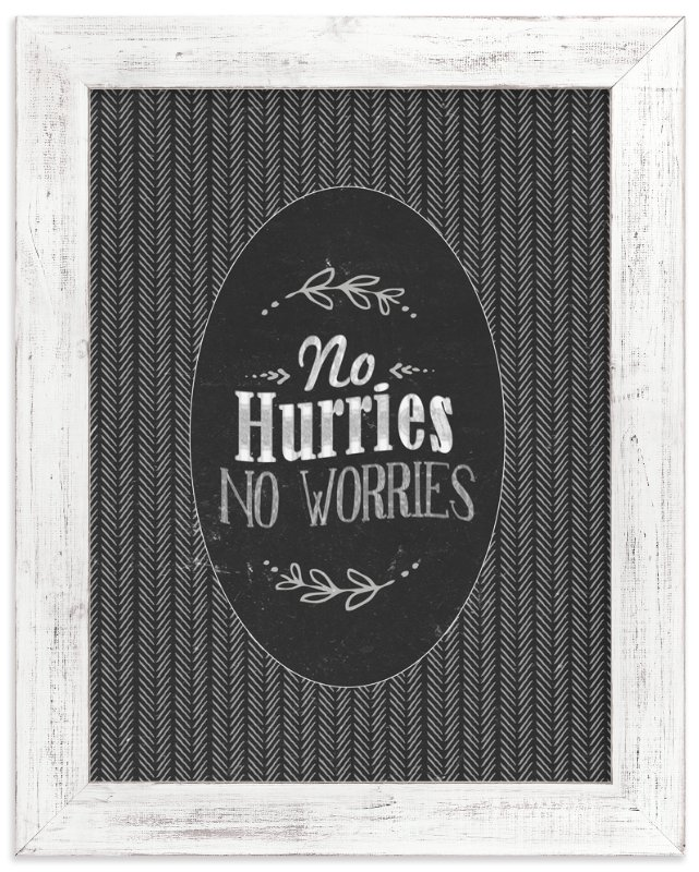 """No Worries"" - Art Print by Smile Peace Love in beautiful frame options and a variety of sizes."