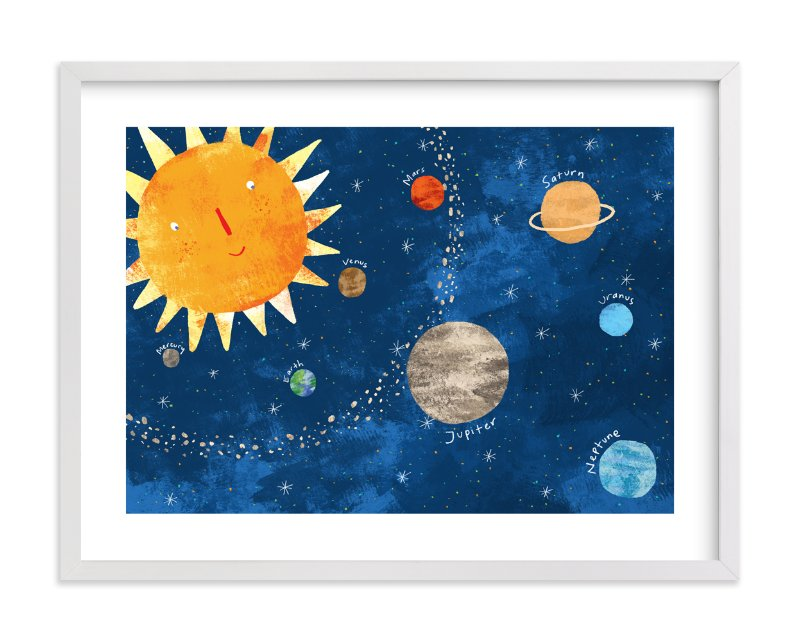 """""""Sun and Planets"""" - Art Print by Evelline Andrya in beautiful frame options and a variety of sizes."""