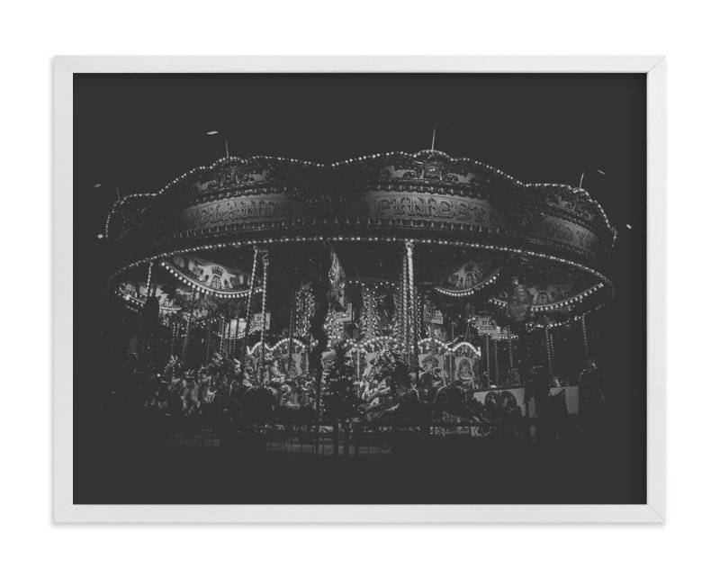 """""""Midnight Carousel"""" - Art Print by the duarte creative in beautiful frame options and a variety of sizes."""