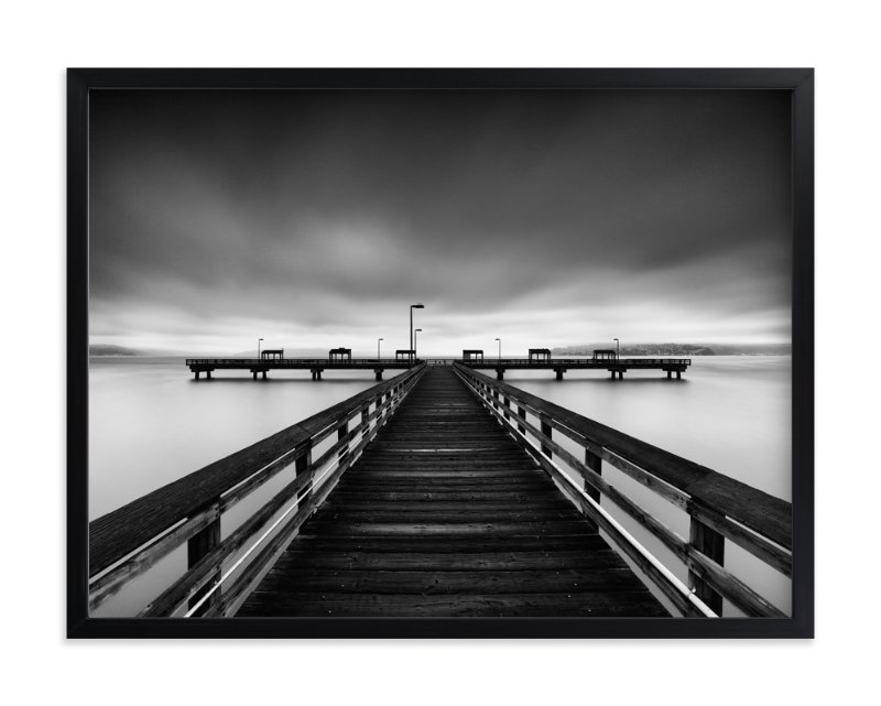 """""""Les Davis Pier"""" - Art Print by J Ryan in beautiful frame options and a variety of sizes."""