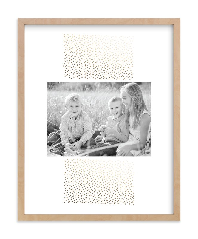 """Delicate Dots"" - Foil Pressed Photo Art Print by Ashley Hegarty in beautiful frame options and a variety of sizes."