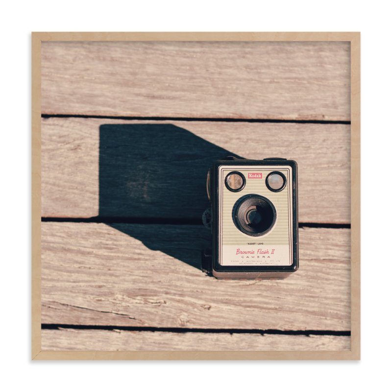 """Vintage Camera"" - Art Print by Bonjour Berry in beautiful frame options and a variety of sizes."