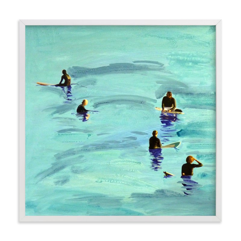 """Waiting, Malibu 2012"" - Art Print by Annie Seaton in beautiful frame options and a variety of sizes."