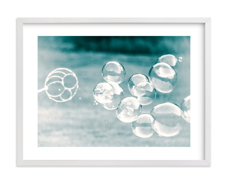 """Bubbles out of the Blue"" - Limited Edition Art Print by Mary Ann Glynn-Tusa in beautiful frame options and a variety of sizes."