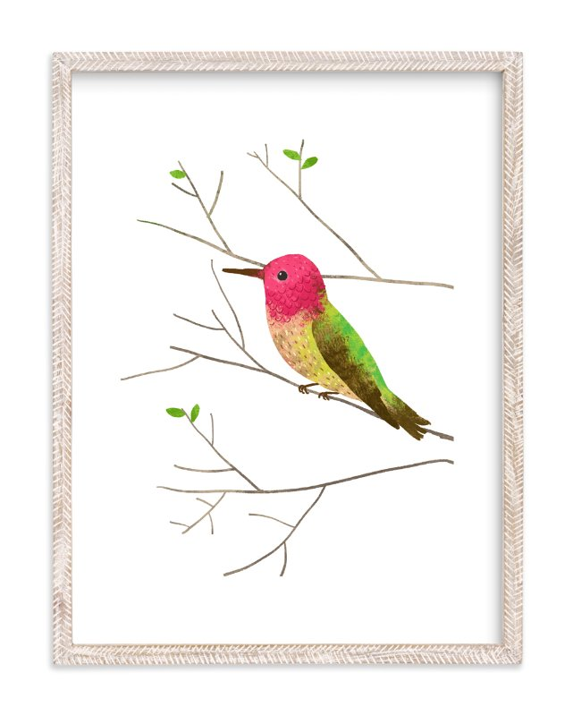 """Anna's Hummingbird"" - Art Print by Evelline Andrya in beautiful frame options and a variety of sizes."