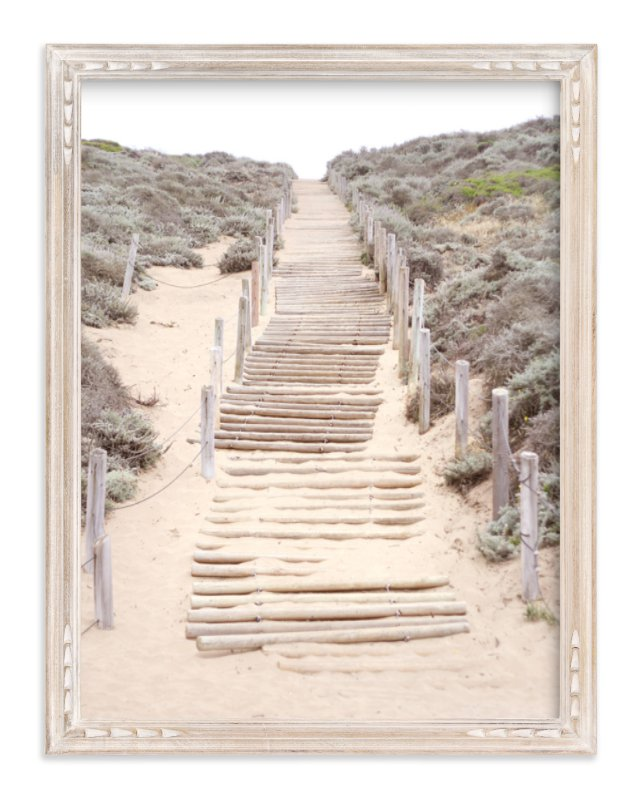 """Sandy San Franciscan Steps"" - Art Print by Sharon Rowan in beautiful frame options and a variety of sizes."