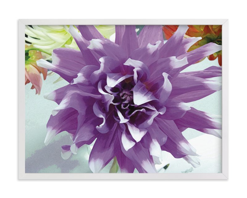 """Watercolor Dahlia"" - Art Print by Mazing Designs in beautiful frame options and a variety of sizes."