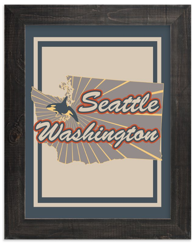 """""""Seattle Washington"""" - Art Print by Nathan Poland in beautiful frame options and a variety of sizes."""