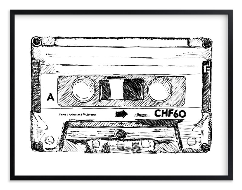 """""""Retro Cassette """" - Art Print by Phrosne Ras in beautiful frame options and a variety of sizes."""