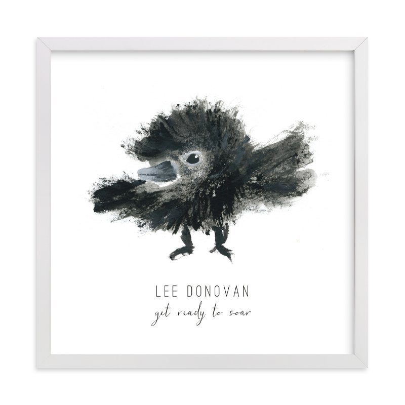 """Ready to Fly"" - Children's Custom Art Print by Simona Cavallaro in beautiful frame options and a variety of sizes."