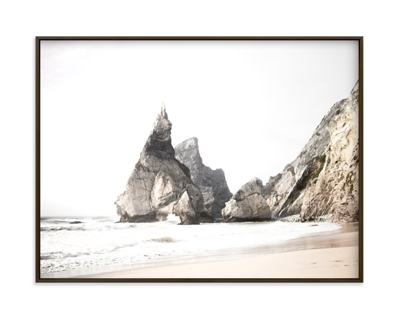 """Praia da Ursa"" - Art Print by Hi Uan Kang Haaga in beautiful frame options and a variety of sizes."