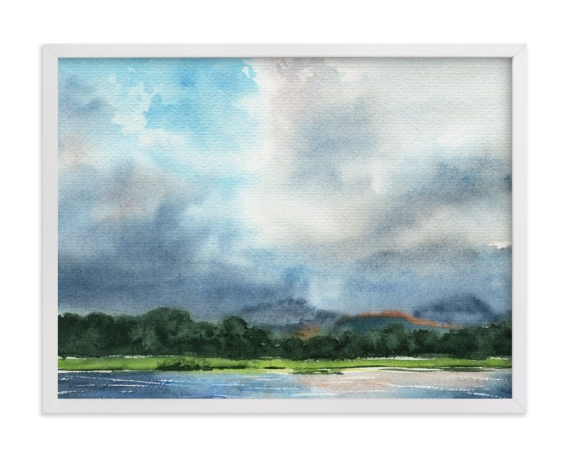 """Cloud Symphony Ring of Beara"" - Art Print by Eva Marion in beautiful frame options and a variety of sizes."