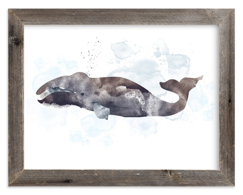"""Whale Series Four"" - Art Print by Shirley Lin Schneider in beautiful frame options and a variety of sizes."