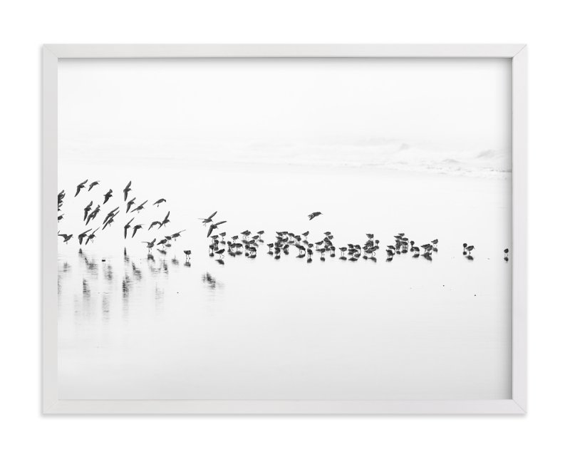 """Flocking"" - Art Print by Stephanie Sherman in beautiful frame options and a variety of sizes."