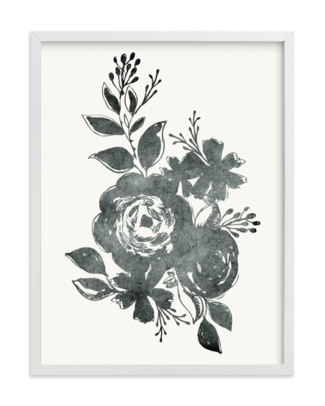 """""""Dark Florals no. 1"""" - Art Print by Alethea and Ruth in beautiful frame options and a variety of sizes."""