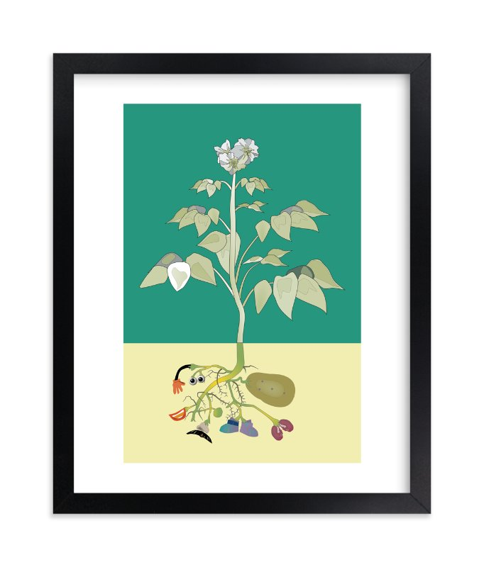 """""""Look What's Growing in my Garden"""" - Art Print by Pat Jennings in beautiful frame options and a variety of sizes."""