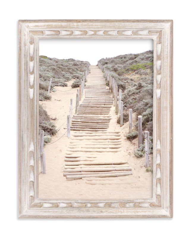 """""""Sandy San Franciscan Steps"""" - Art Print by Sharon Rowan in beautiful frame options and a variety of sizes."""