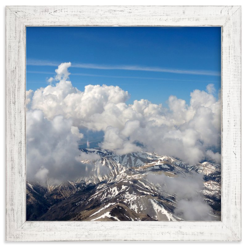 """Clouds and Snow 1"" - Art Print by Jeff Vilkin in beautiful frame options and a variety of sizes."