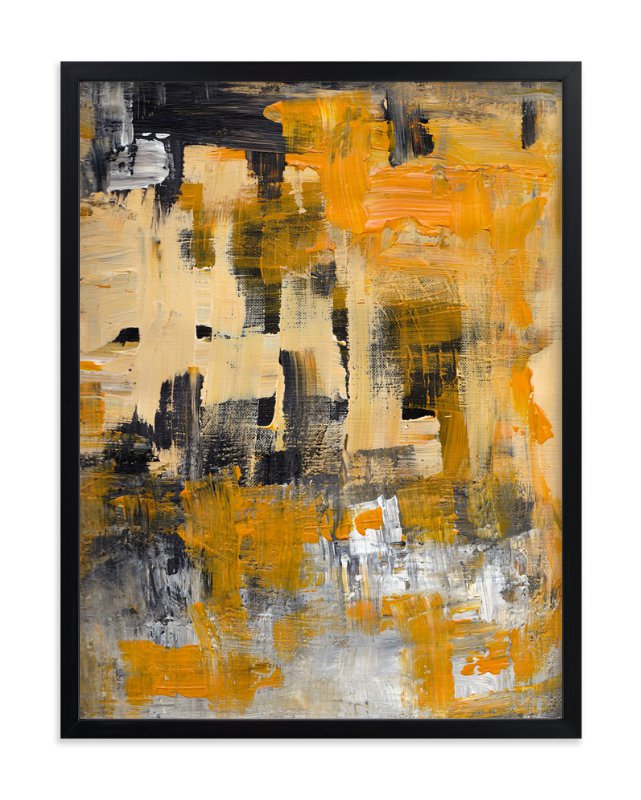 """Orange Zest"" - Art Print by Ilana Greenberg in beautiful frame options and a variety of sizes."