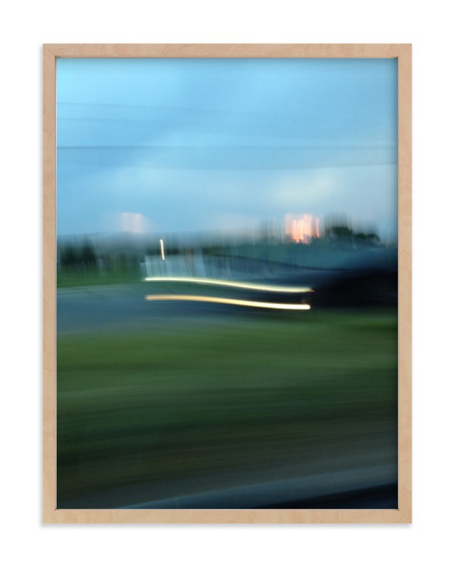 """""""Sunset Headlights"""" - Art Print by cassie adams in beautiful frame options and a variety of sizes."""