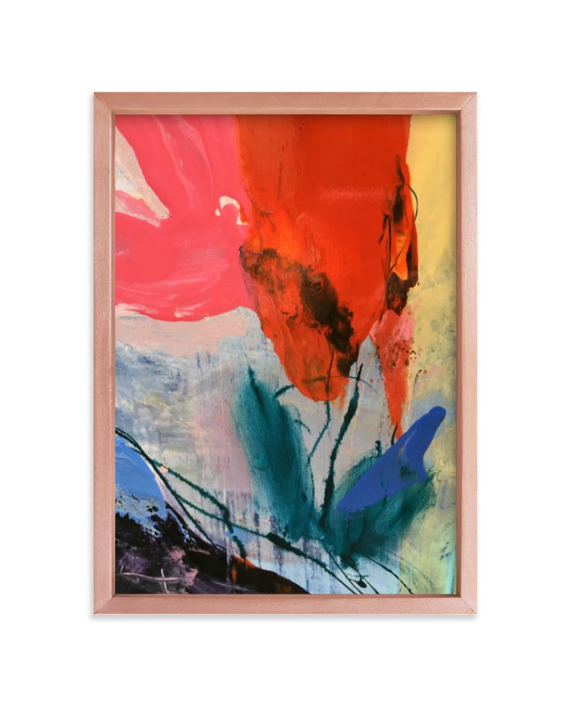 """""""Flower Water Vase"""" - Art Print by gloria blatt in beautiful frame options and a variety of sizes."""