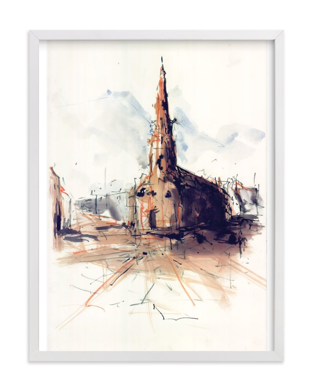 """""""Marktkirche Cathedral"""" - Art Print by Benjamin Kroll in beautiful frame options and a variety of sizes."""