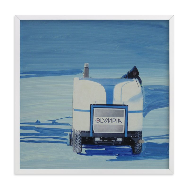 """Toronto Lakefront Zamboni"" - Art Print by Annie Seaton in beautiful frame options and a variety of sizes."