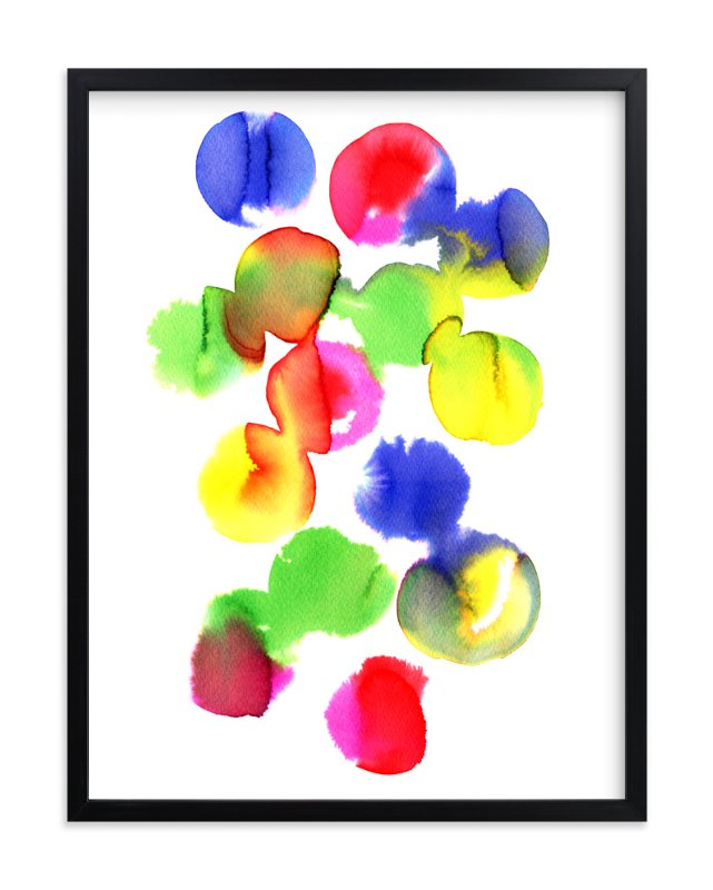 """""""Abstract watercolor study 2"""" - Art Print by Alexandra Dzh in beautiful frame options and a variety of sizes."""