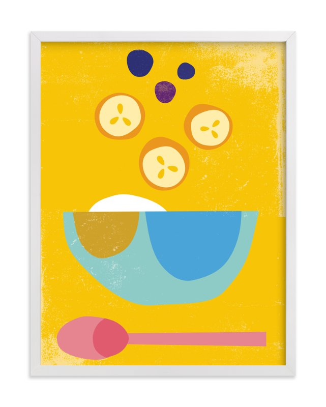 """Breakfast Bowl"" - Art Print by sue prue in beautiful frame options and a variety of sizes."