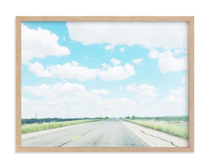 """Eastbound Through West Texas"" - Art Print by Kate Wong in beautiful frame options and a variety of sizes."