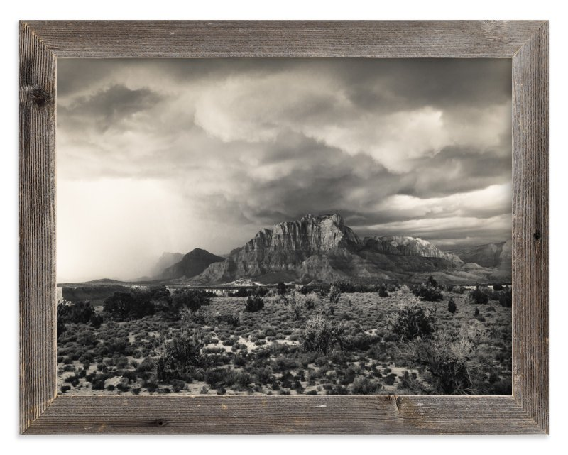 """""""Storm Over Zion I"""" - Art Print by Kamala Nahas in beautiful frame options and a variety of sizes."""