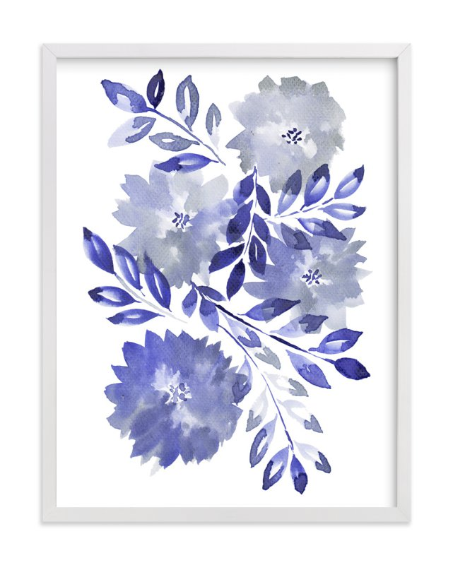 """""""hand painted flowers_1G"""" - Art Print by aticnomar in beautiful frame options and a variety of sizes."""
