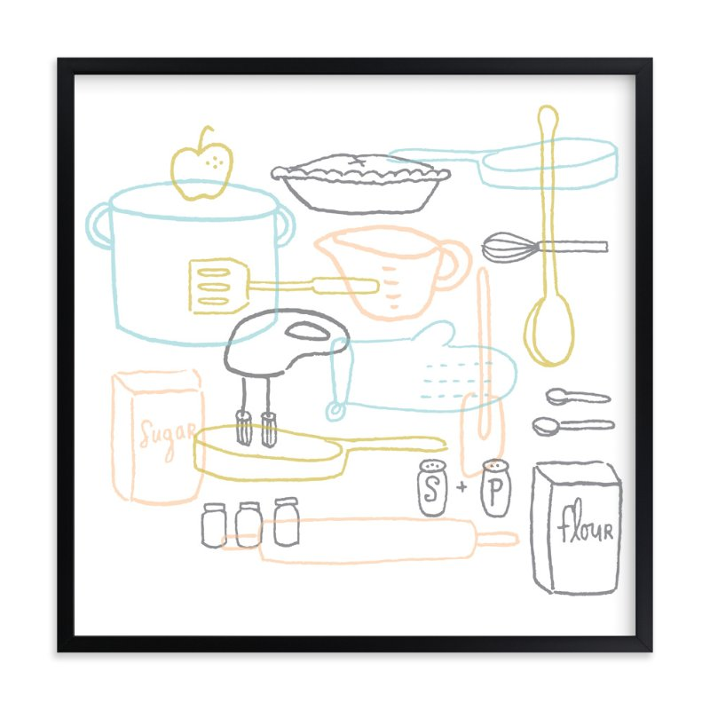"""Kitchen Dance"" - Art Print by Moglea in beautiful frame options and a variety of sizes."