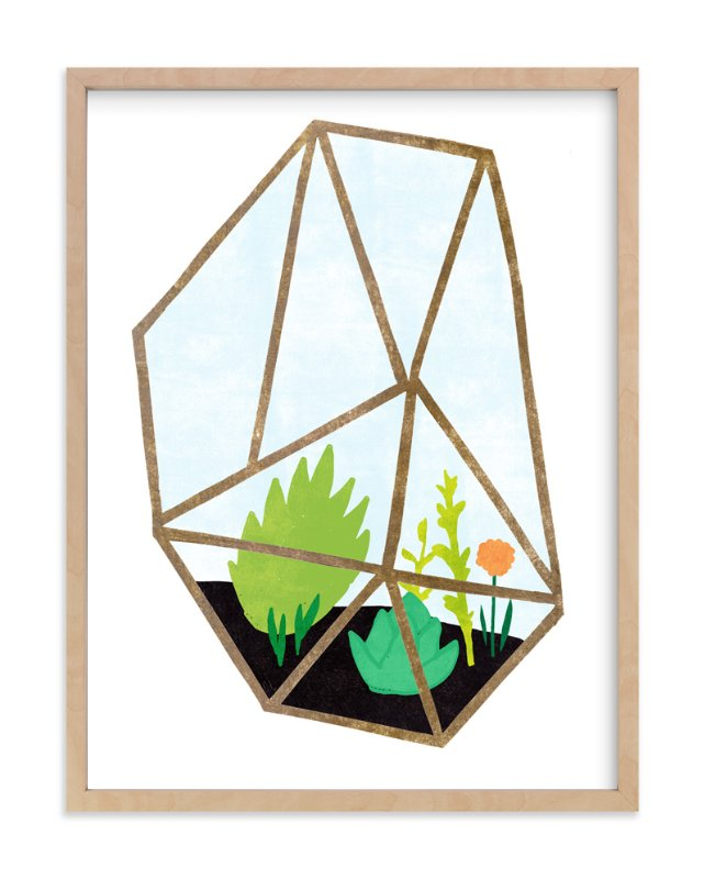 """Terrarium 2"" - Art Print by Kelly Nasuta in beautiful frame options and a variety of sizes."