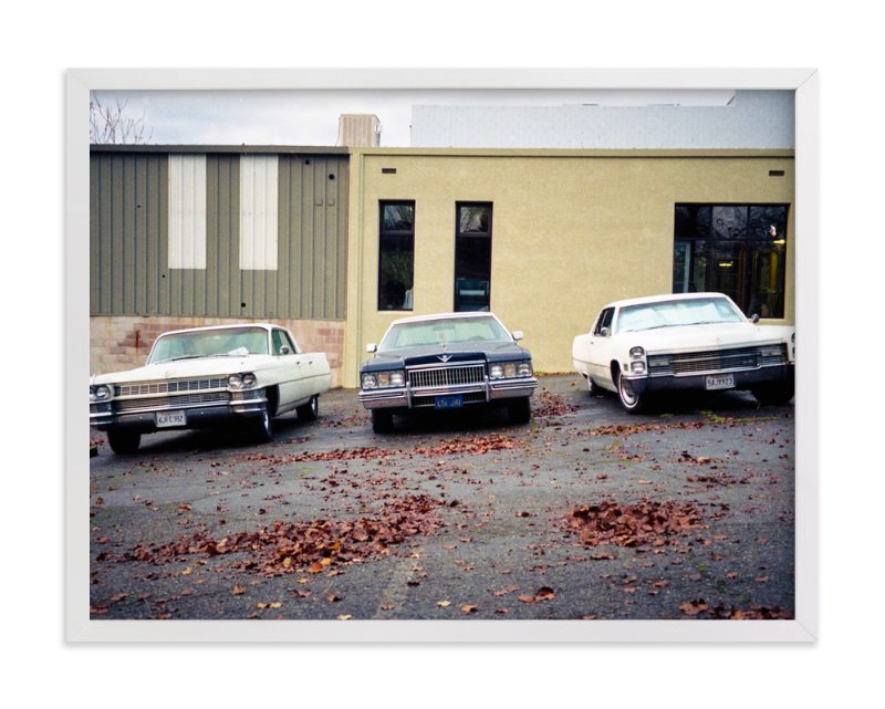 """Three Cars"" - Art Print by Celisse Muller in beautiful frame options and a variety of sizes."