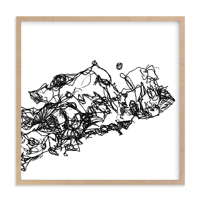 """""""an arbitrary pangaea"""" - Art Print by Nathan Gearhart in beautiful frame options and a variety of sizes."""