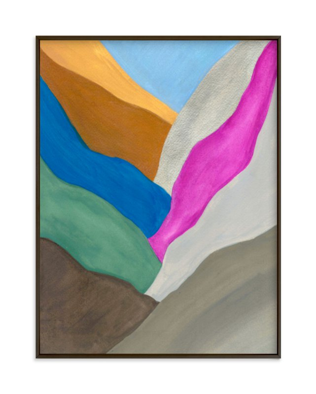 """Abstract Mountain II"" - Art Print by Hilary Hahn in beautiful frame options and a variety of sizes."