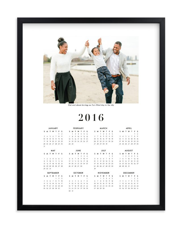 """""""Family Photo Calendar"""" - Custom Photo Art Print by Minted in beautiful frame options and a variety of sizes."""