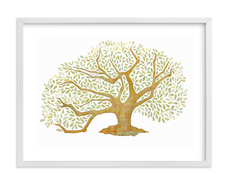 """Tree of Life, Audubon Park, New Orleans"" - Art Print by Amelie Conger in beautiful frame options and a variety of sizes."