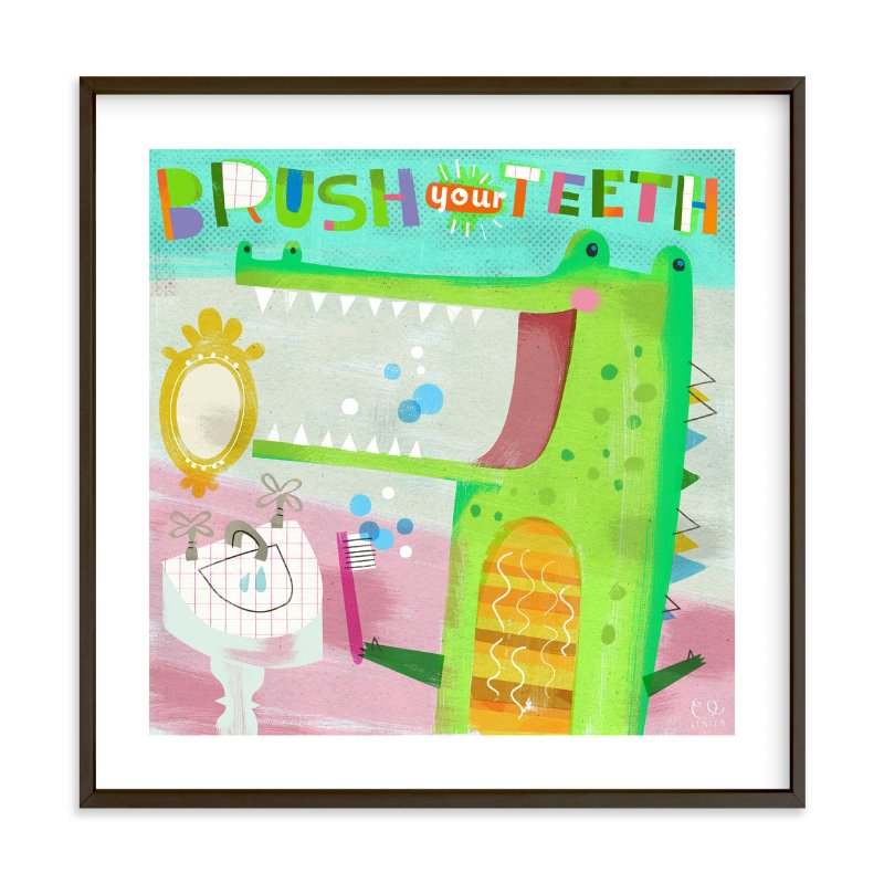 """Brush Your Teeth!"" - Art Print by Chris Lensch in beautiful frame options and a variety of sizes."