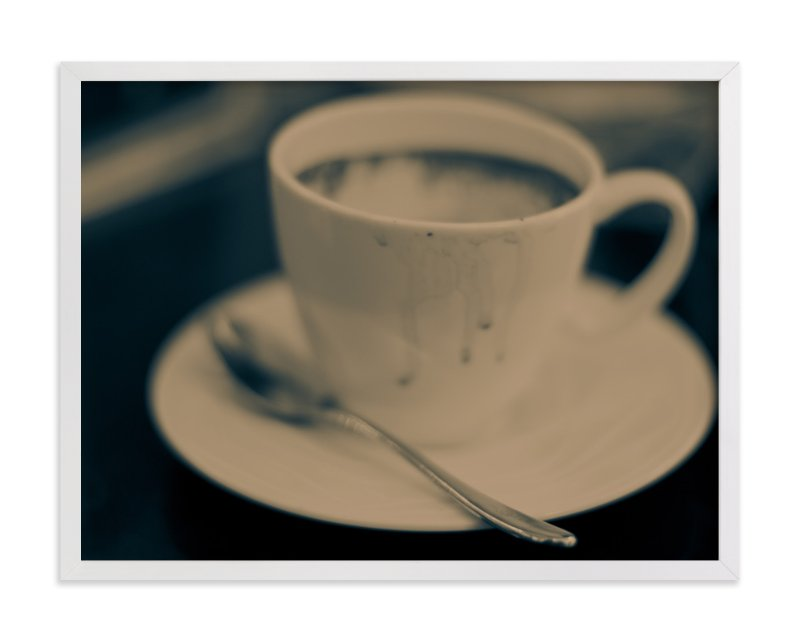 """""""One More Cup"""" - Art Print by Alexandra Nazari in beautiful frame options and a variety of sizes."""